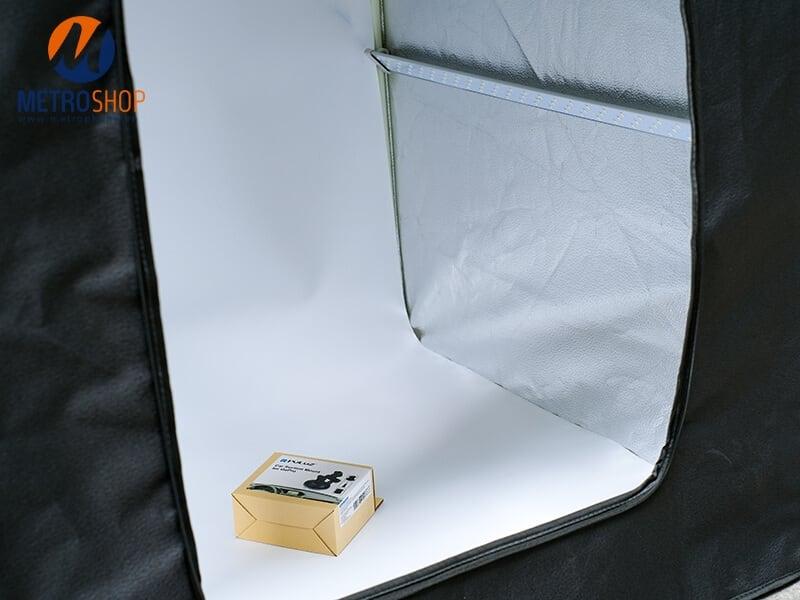 Hộp chụp sản phẩm tích hợp đèn LED chuyên nghiệp 80x80cm