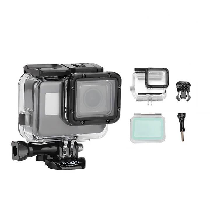 Vỏ chống nước GoPro 7 / 6 / 5 / New Hero Telesin chính hãng