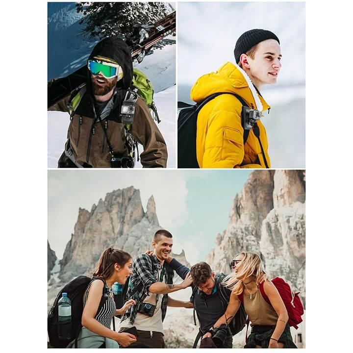 Mount gắn GoPro và Action cam lên Balo - đeo vai Telesin V2