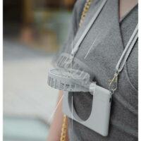 Quạt mini đeo cổ - để bàn tích hợp pin Stylepie