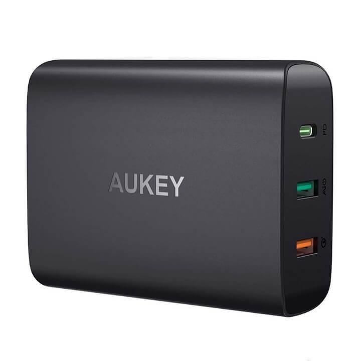 Củ sạc nhanh 3 cổng 46W PD 3.0 QC3.0 Aukey PA-Y13