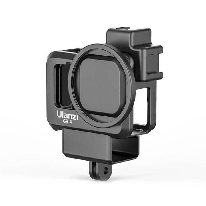 Khung GoPro 9 có khe gắn adapter Mic LED Ulanzi G9-4