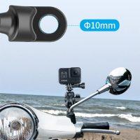 Giá đỡ GoPro lên chân kính xe máy xoay 360 độ Telesin