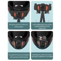 Bộ gắn GoPro và Action Cam lên cằm mũ bảo hiểm Fullface